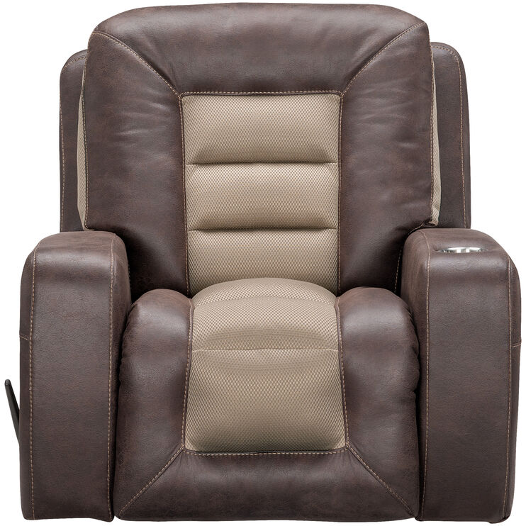 Slumberland Furniture Malone Umber Rocker Recliner