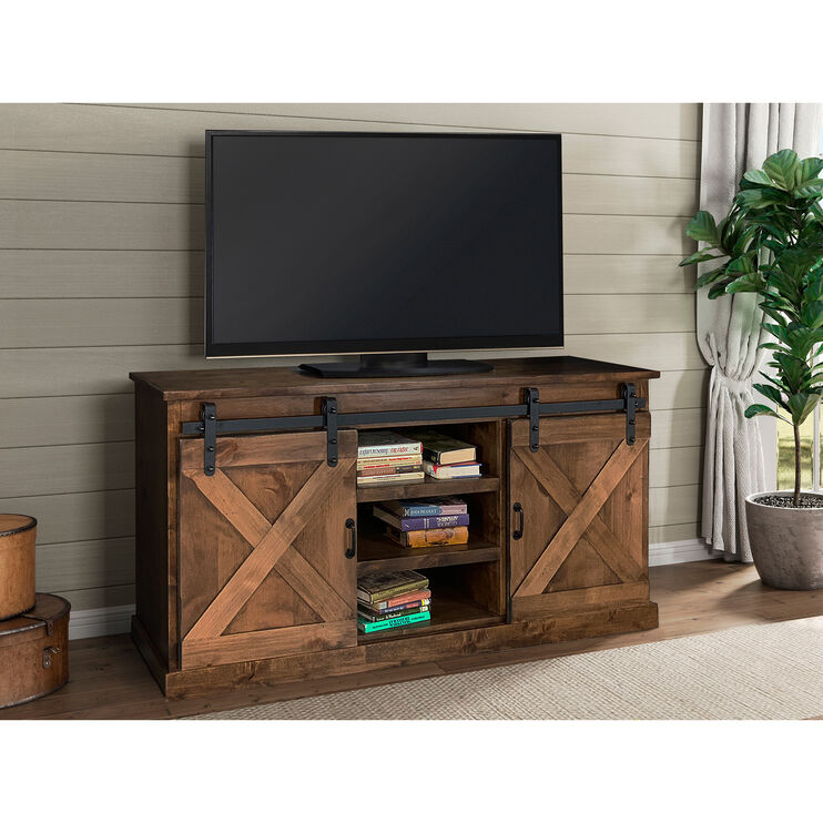 Farmhouse Aged Whiskey 66 Inch Console