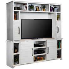 Cottage White 85 In Console with Hutch