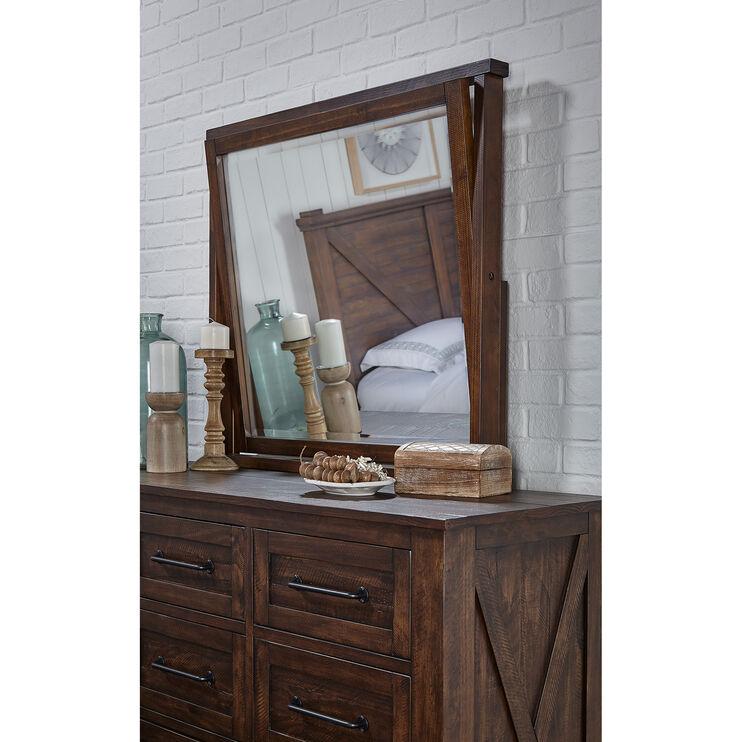 Sun Valley Rustic Timber Mirror