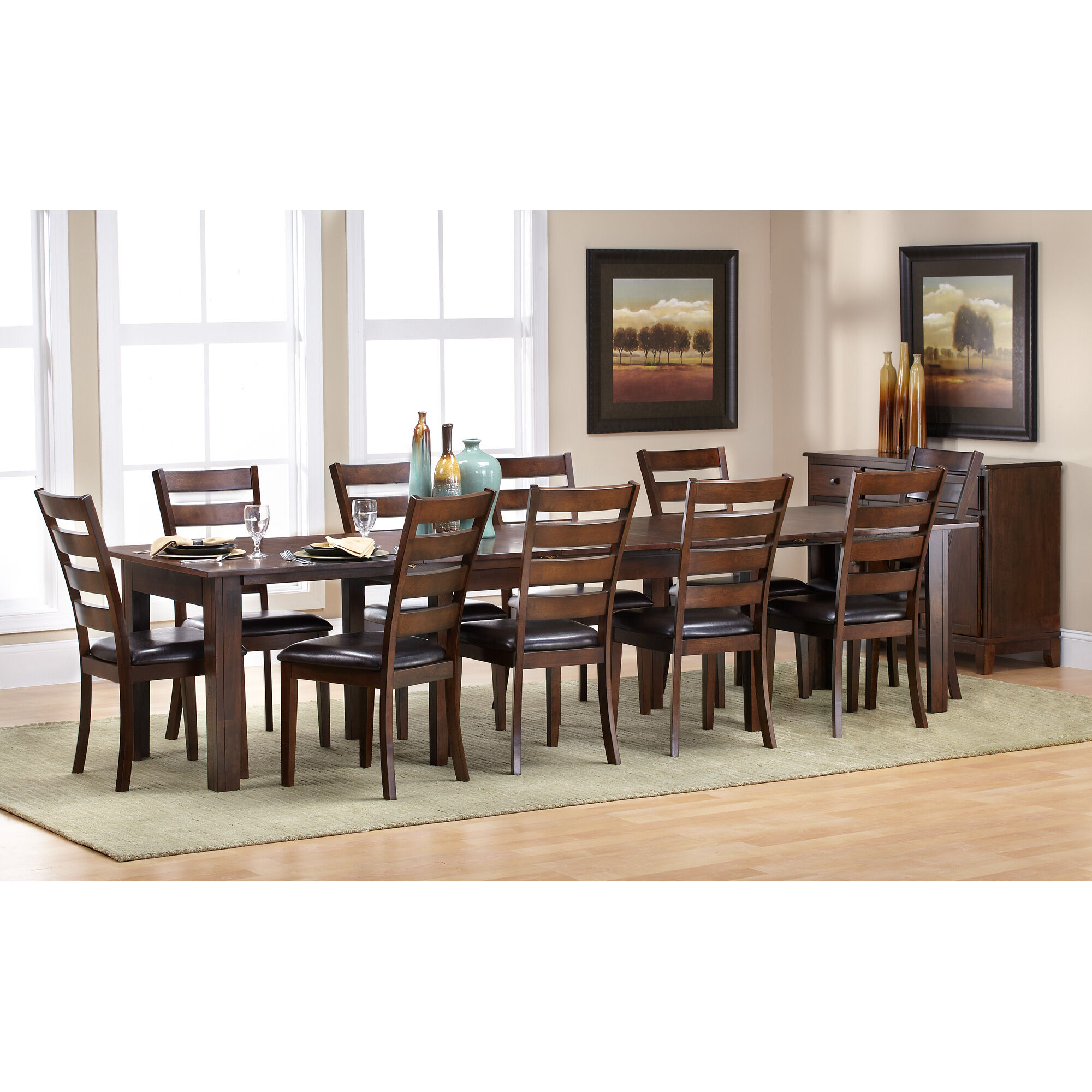 Stupendous Slumberland Furniture Kona Raisin 11 Piece Dining Set Gmtry Best Dining Table And Chair Ideas Images Gmtryco