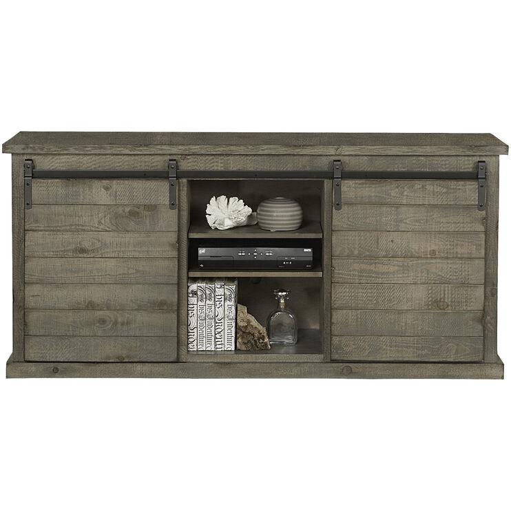 Keller Gray Barn Door Console