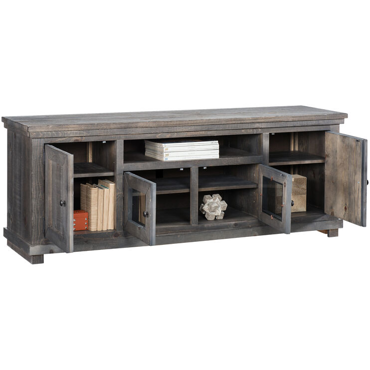 Willow Distressed Gray 74 Inch Console