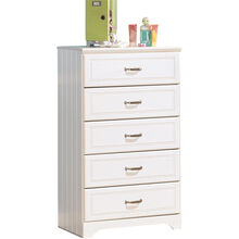 Lulu White 5 Drawer Chest