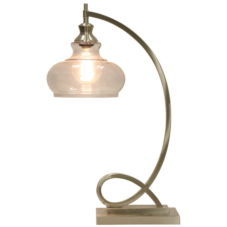 Burlingham Silver Accent Lamp