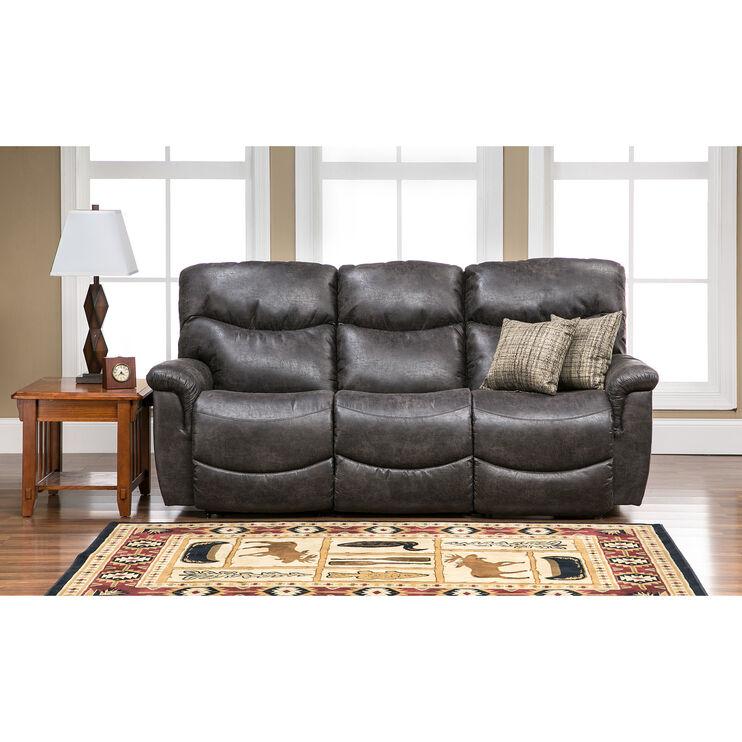 Slumberland Furniture   James Steel Sofa
