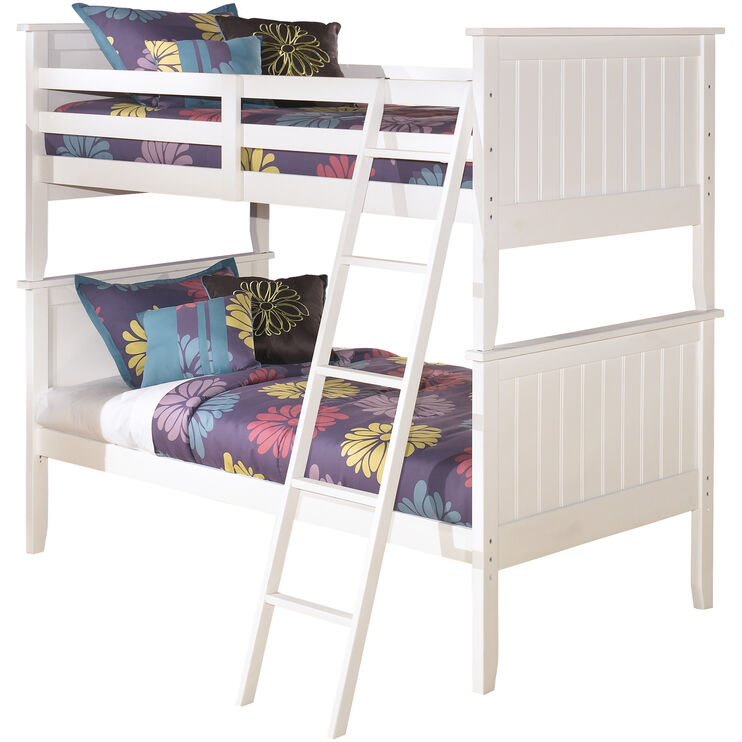 Lulu White Twin over Twin Bunk Bed