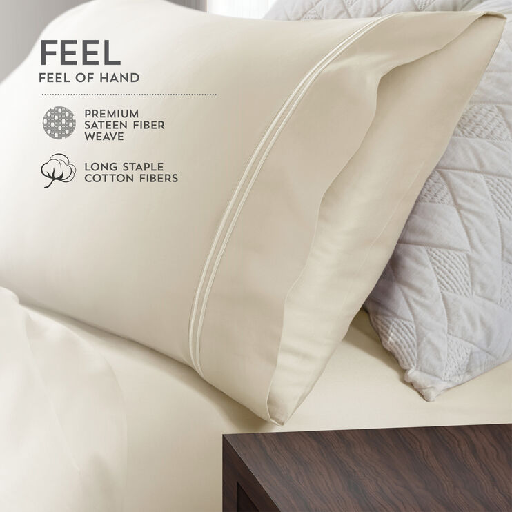 Elements Light Blue Queen Modal Pillowcase