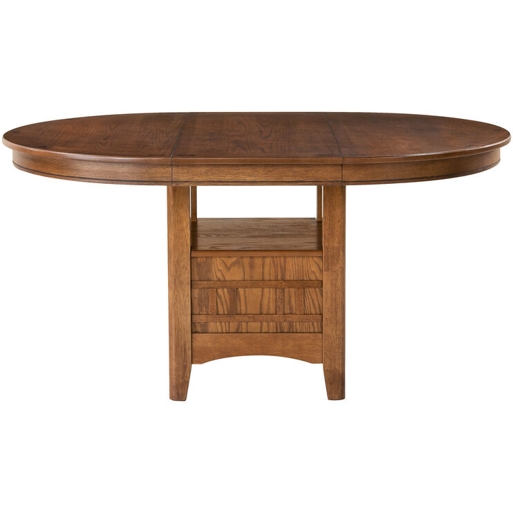 Santa Rosa Oak Pedestal Dining Table