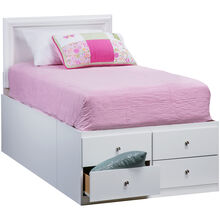 Gilbert White Twin Storage Bed