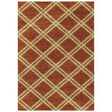 Majestic Diamonds Rouge Burnt Orange 5 x 8 Rug