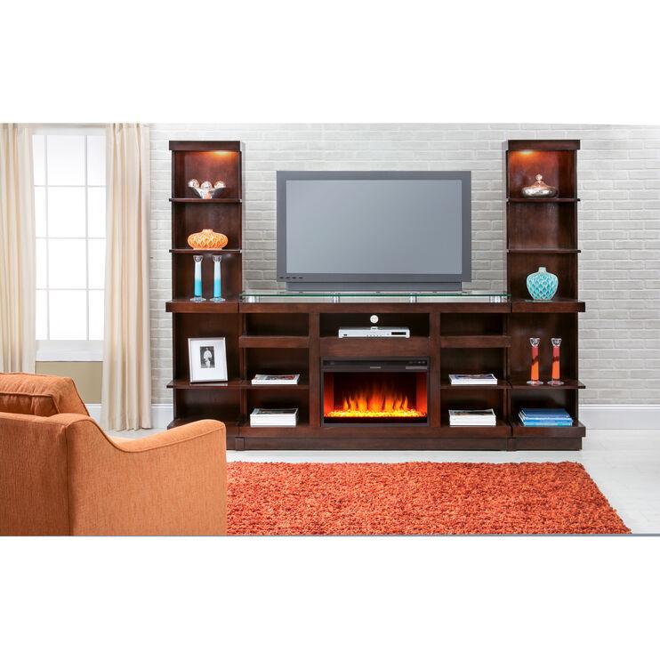 Novella 3 Piece Chocolate Fireplace Wall