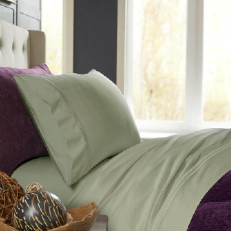 Elements Sage Green Queen Bamboo Pillowcase