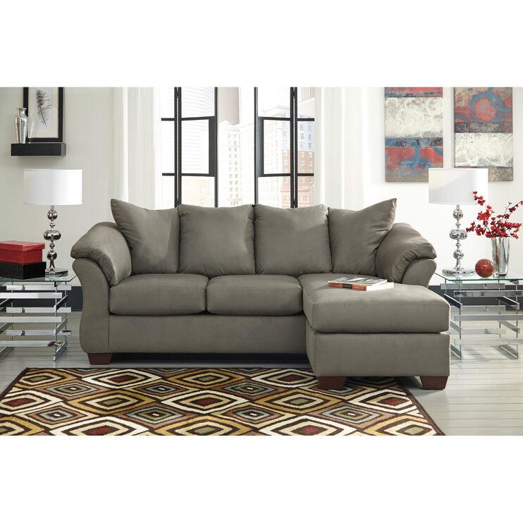 Marcy Cobblestone Chaise Sofa
