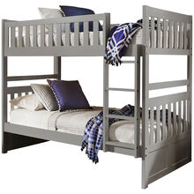 Orion Gray Twin Over Twin Bunk Bed