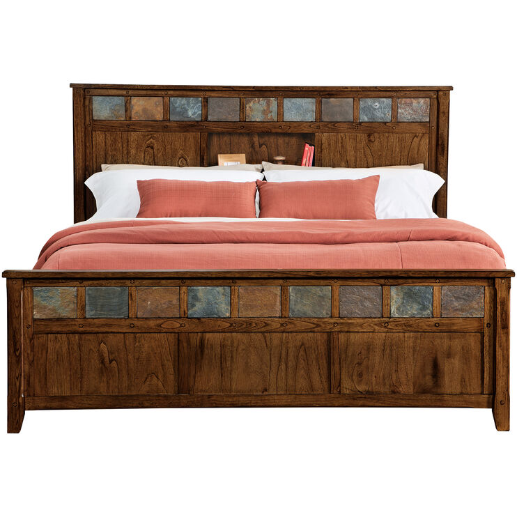 Sante Fe Chocolate King Bookcase Bed