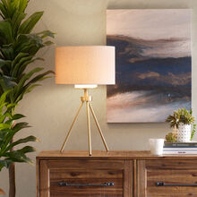 Pacific Gold Tripod Table Lamp