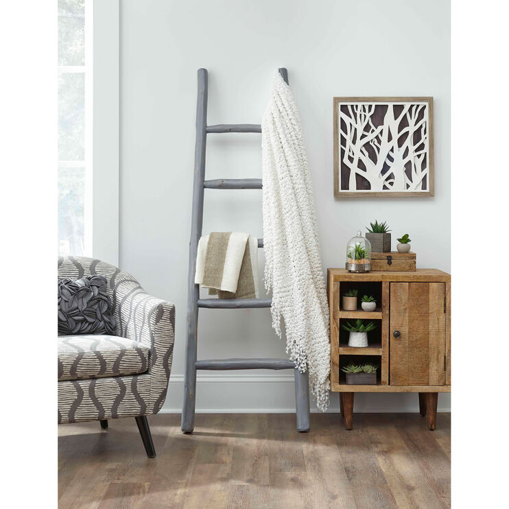 Millie August Gray Blanket Ladder