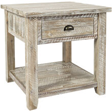 Artisans Craft Gray Wash End Table