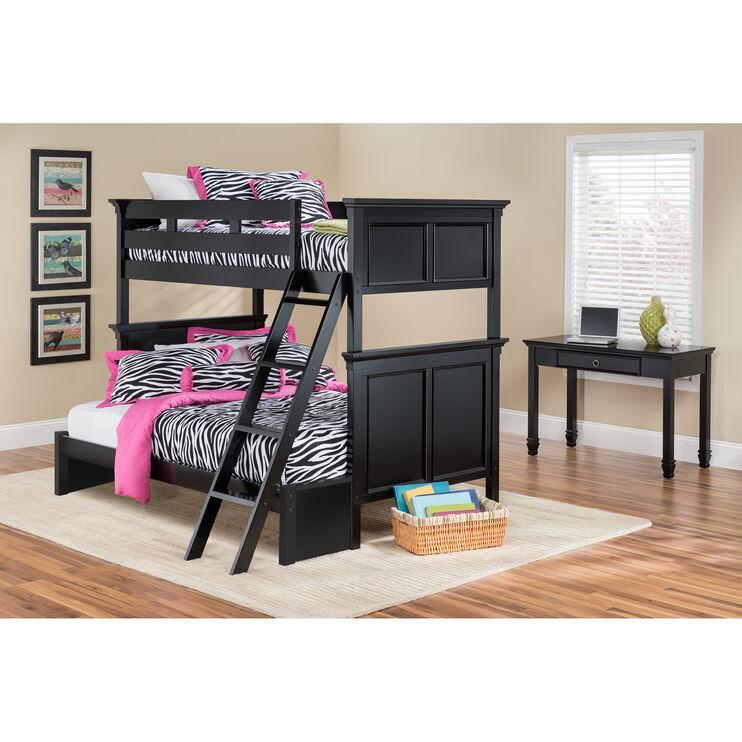 Persia Black Twin/Full Bunk Bed