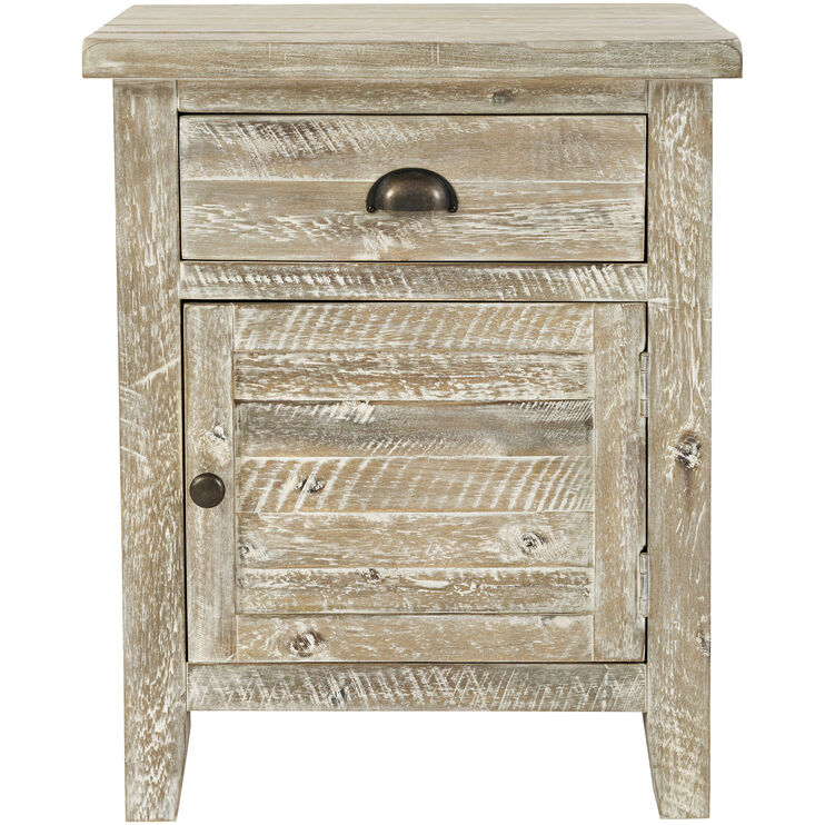 Artisans Craft Gray Wash Accent Table
