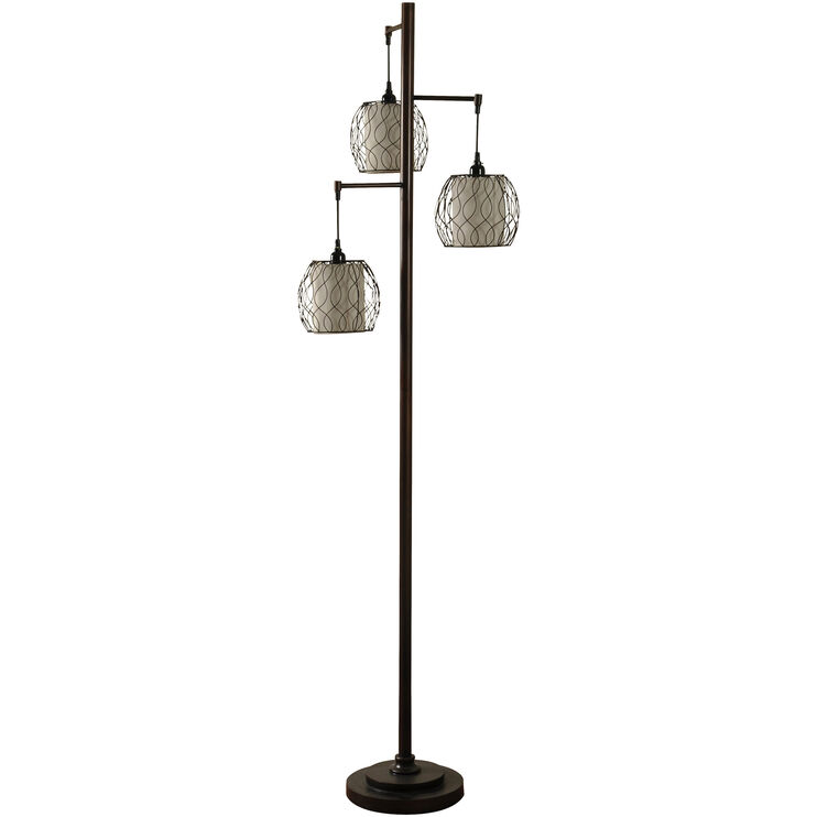 Orson Bronze Three Head Floor Lamp