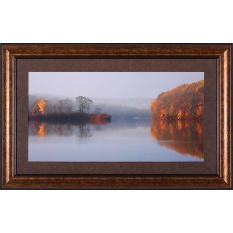 FALL MORNING AT THE LAKE Framed Art
