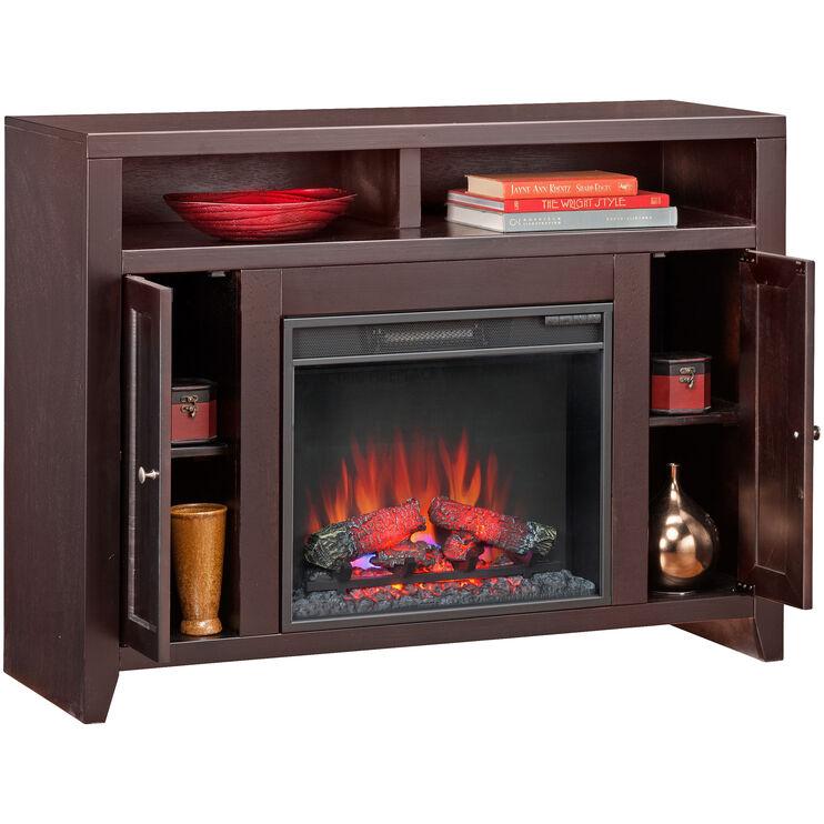 Lockwood Mocha Fireplace Console