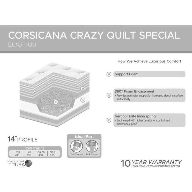 Corsicana Factory Select 8 Inch Foam Queen Mattress