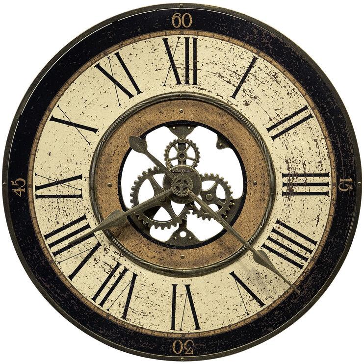 Brass Works Medium Round Wall Clock