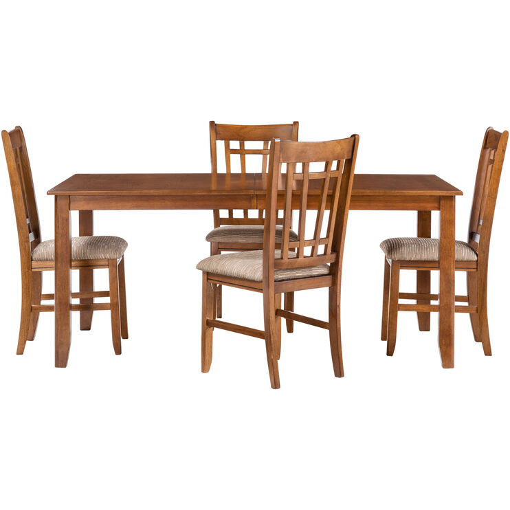 Santa Rosa 5Pc Oak Dining Set
