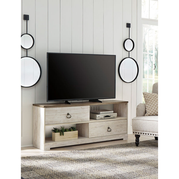 Willowton White 60 Inch TV Stand