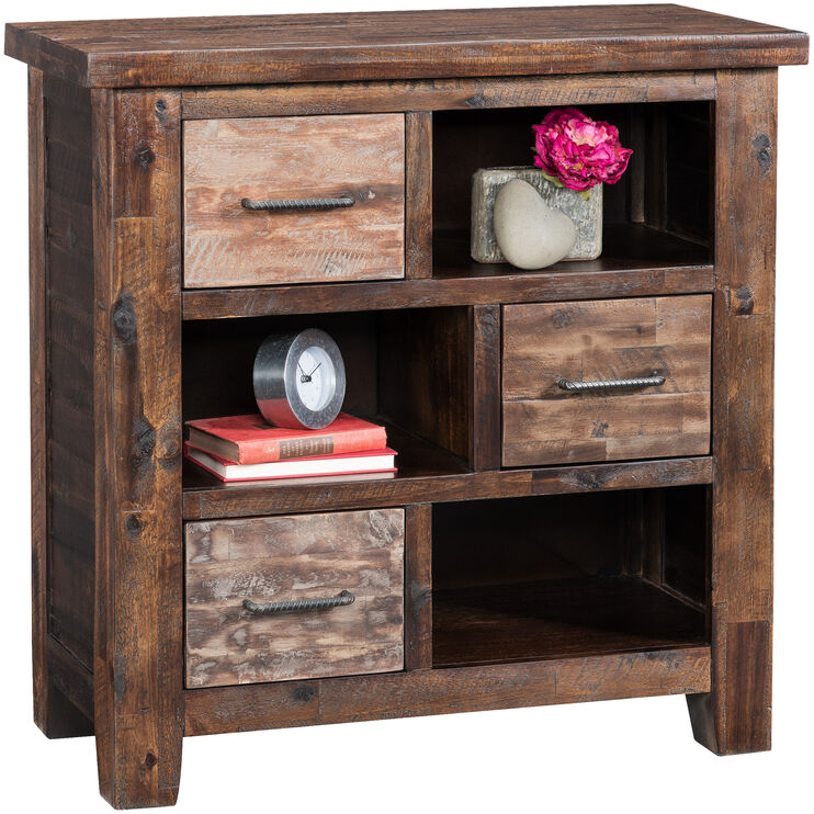 Painted Canyon Distressed Chestnut 3 Drawer Cabinet