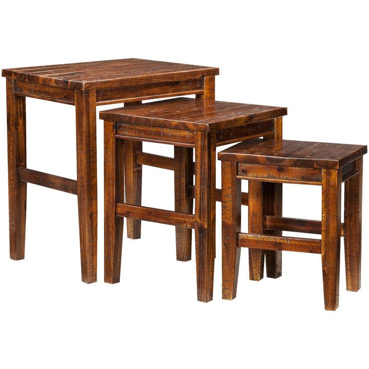 Urban Lodge Brown 3 Nesting Tables