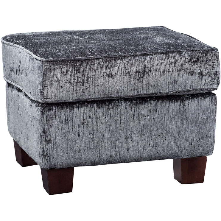 Johnston Dark Gray Ottoman