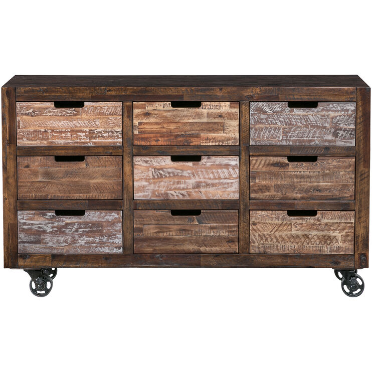 Painted Canyon Chestnut 9 Drawer Chest