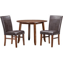 Kona Raisin 3 Piece Parson Drop Leaf Dining Set