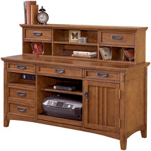 Cross Island Brown 2 Pc Credenza Low Hutch