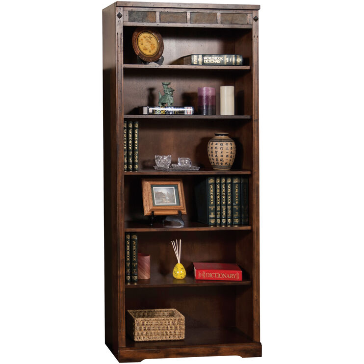 Sante Fe 72 Inch Dark Chocolate Bookcase