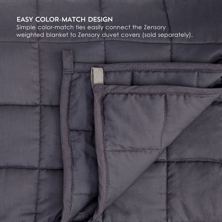 Zensory Dove Gray 15 Pound Weighted Blanket