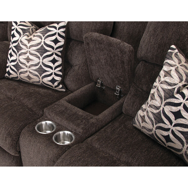 Nome Tiger Eye Power Plus Reclining Console Loveseat