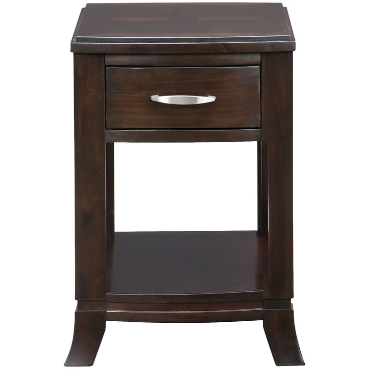 Downtown Merlot Chairside Table