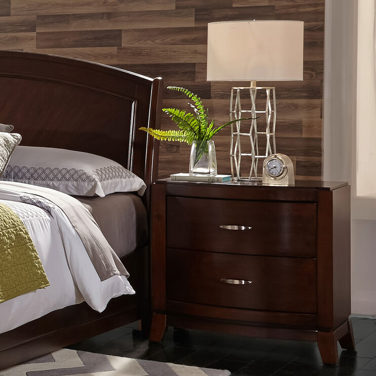 Avalon Dark Brown Nightstand