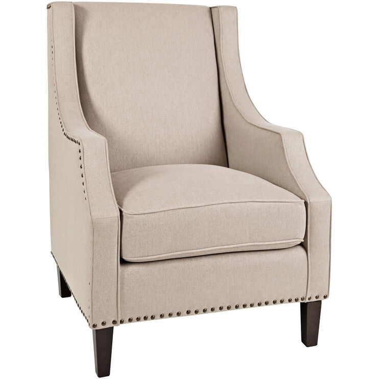 Gutherie Taupe Wing Chair