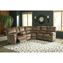 Bedford Mocha 3 Piece Power Reclining Console Loveseat Sectional