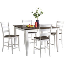 Kona Gray 5 Piece Ladder Back Counter Set