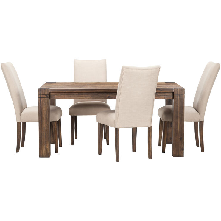 Prairie 5Pc Dining Set w/Upholst Chair