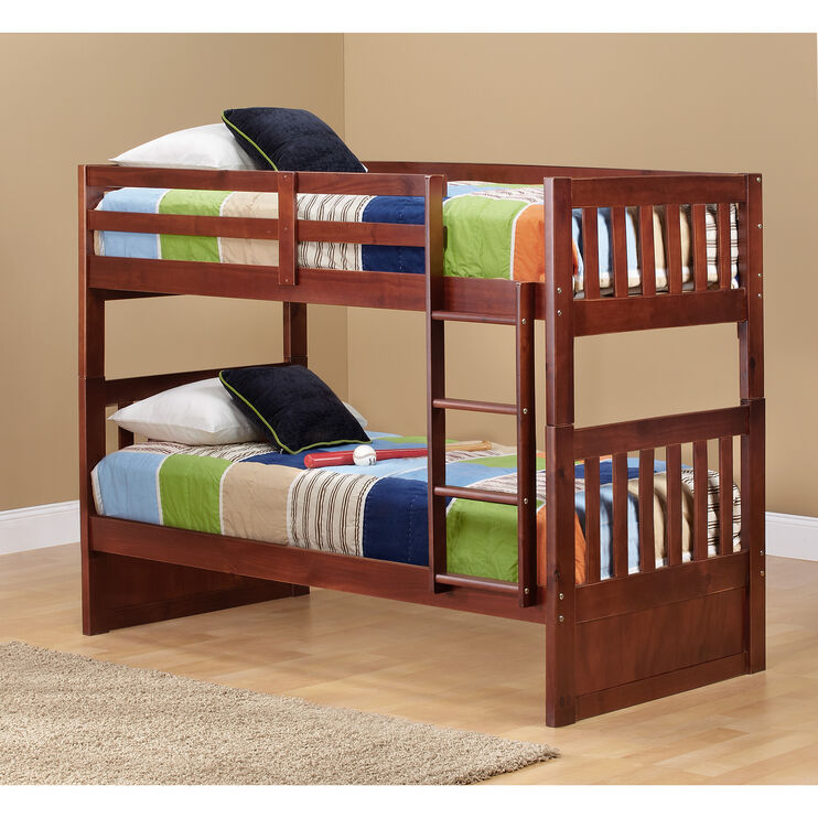 Knollwood Chocolate Twin over Twin Bunk Bed