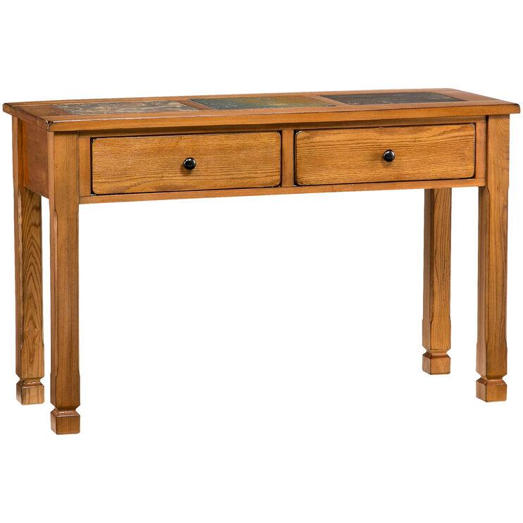 Rustic Ridge Oak Sofa Table