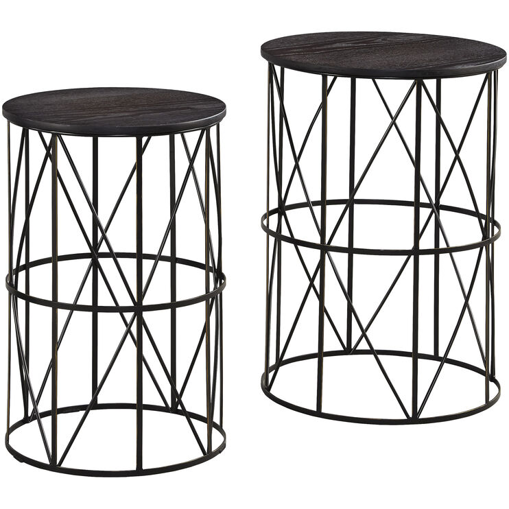 Marxim Set of Two Round Accent Tables